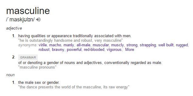 what does masculine mean