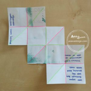 Stampin' Up! mini album folding template